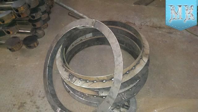 Изготовление колец из уголка